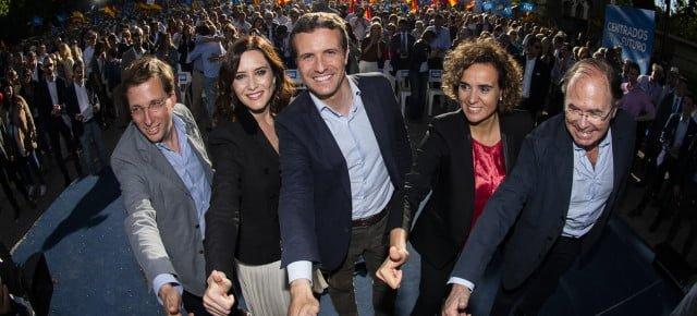 Pablo Casado en el cierre de campaña en Madrid