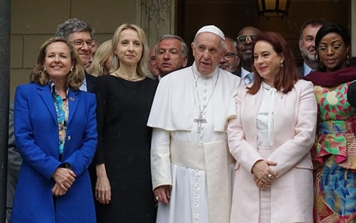 Calviño participates in a conference on sustainable development and climate change in the Vatican