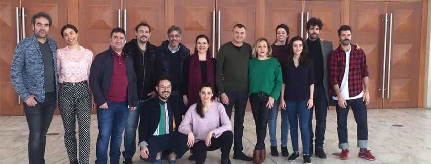 Meeting with the artistic team of «The Cherry Orchard» in Barcelona