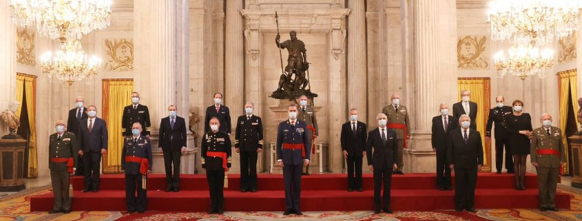 YE. King Felipe VI receives in audience the members of Eurodefense-Spain on the occasion of its 25th anniversary